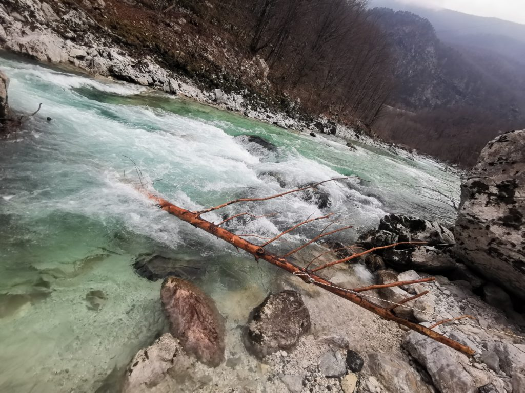 Soca river safety - removing trees